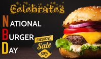 Burger Day Etiqueta template