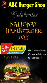 Burger Day Visitkort template