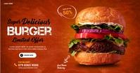 burger Facebook Shared Image template