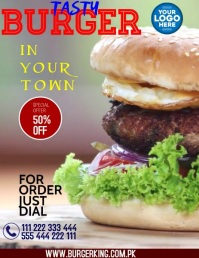 BURGER Flyer (US Letter) template