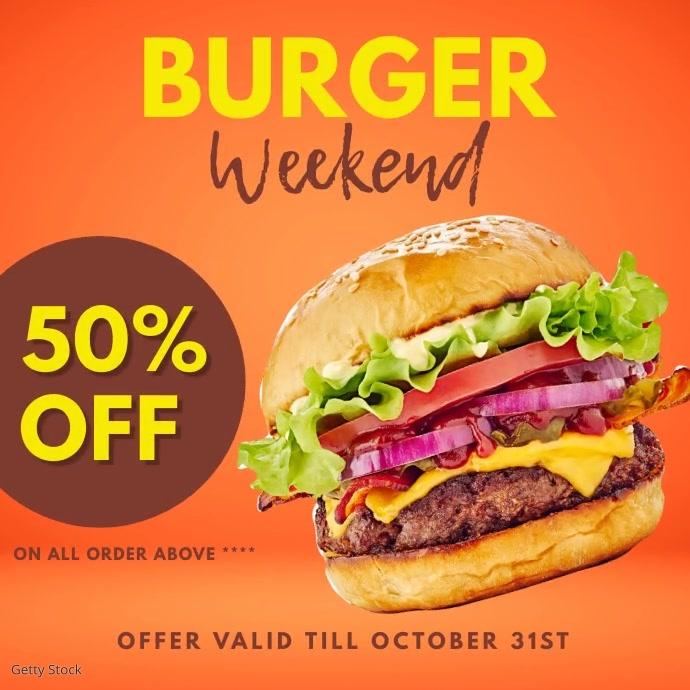 burger Square (1:1) template