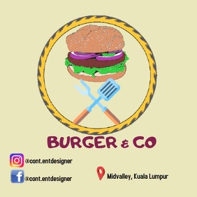 burger Logo template