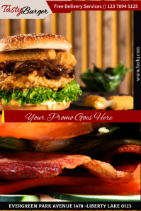 burger Плакат template