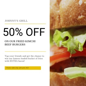 Burger Discount Instagram Video Template