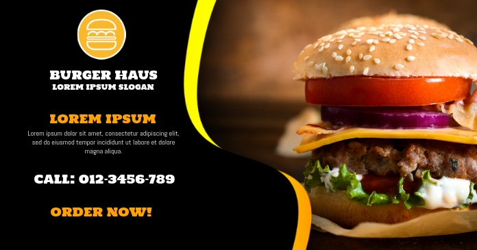 Burger Facebook Ad