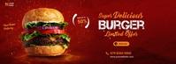 burger Facebook cover template