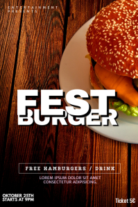 Burger festival Flyer Template