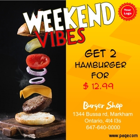 Burger flyer Instagram-Beitrag template