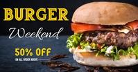 Burger flyer โฆษณา Facebook template