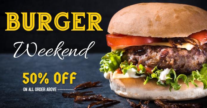 Burger flyer Facebook Ad template