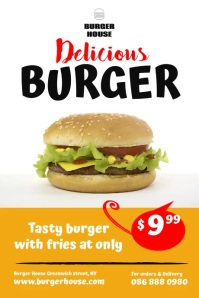 Burger Food Ad Template Affiche