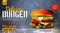 Burger food menu promotion twitter post Twitter-bericht template
