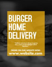 Burger home delivery flyer