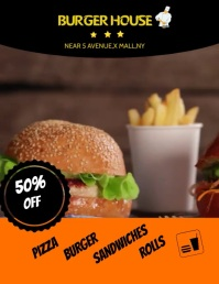 BURGER HOUSE Flyer (US Letter) template