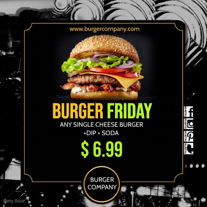 burger insta1 Instagram-opslag template
