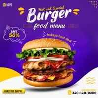 Burger Instagram ADS template