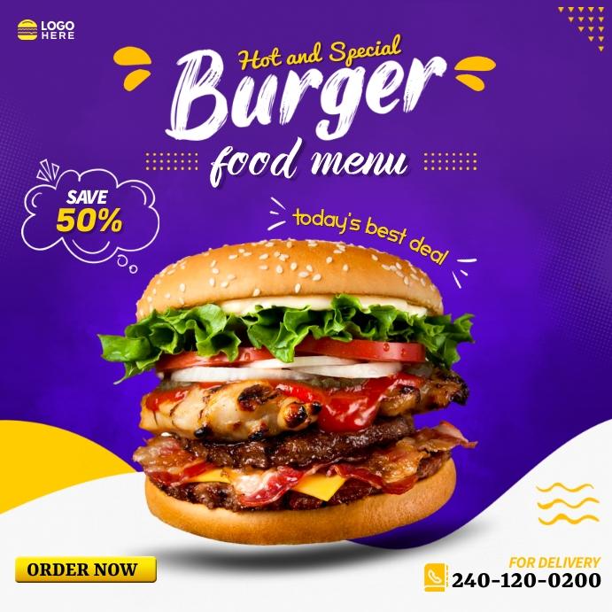 Burger Instagram ADS Instagram-bericht template