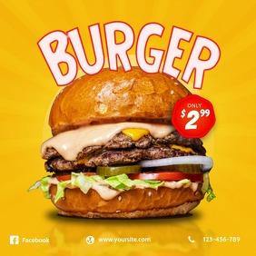 Burger Instagram Banner