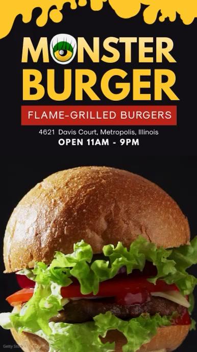 Burger Joint Fast Food Display Board Ad