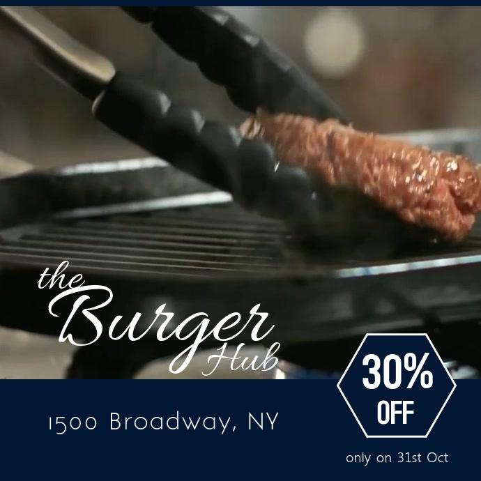 Burger joint flyer