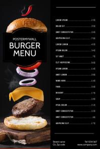 Burger Menu Design Template