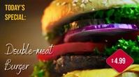 Burger Menu Digitalanzeige (16:9) template