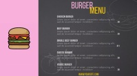 Burger menu digital signage menu animation