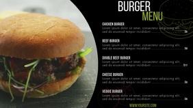 Burger menu digital signage menu black Digitalanzeige (16:9) template