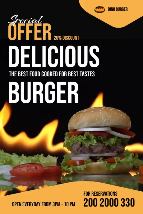 Burger Menu Flyer Poster template