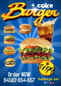 Burger menu Poster