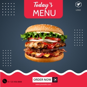 BURGER MENU INSTAGRAM ADVERTISING Instagram-Beitrag template