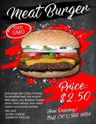 Burger Menu Flyer