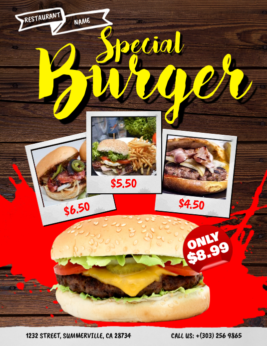 Burger Menu Flyer
