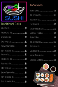 Sushi Menu Flyer Poster Template