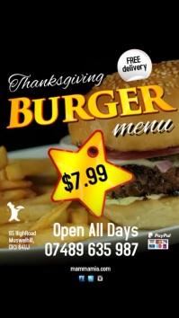 Burger Menu Special Advert Digitale Vertoning (9:16) template