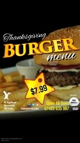 Burger Menu Special Advert