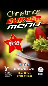 Burger Menu Special Template Pantalla Digital (9:16)
