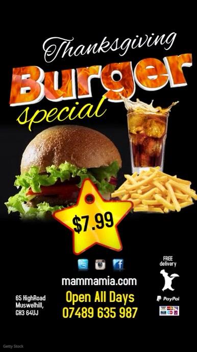 Burger Menu Special