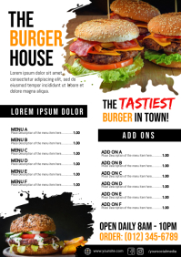 Burger Menu Template A4