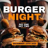 burger night advertisement instagram post and