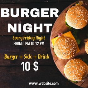 Burger night ad instagram poster