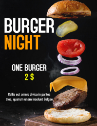 burger night flyer advertisement