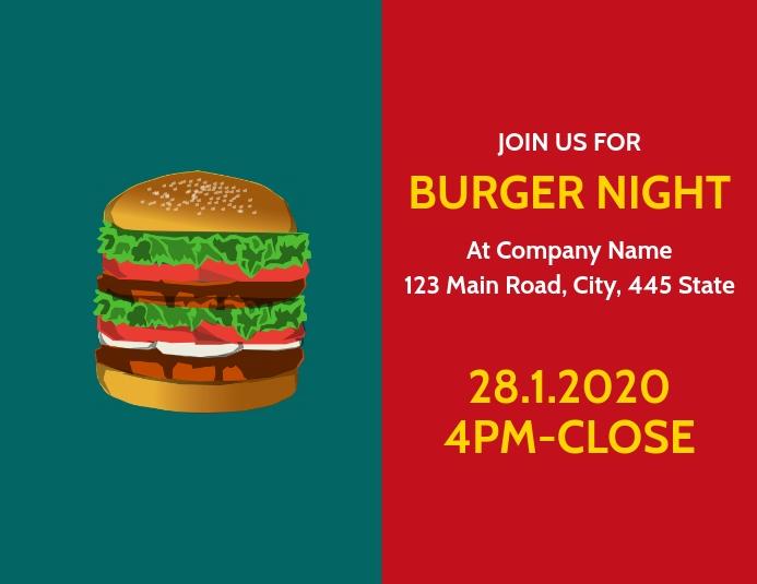 Burger night flyers advertisement