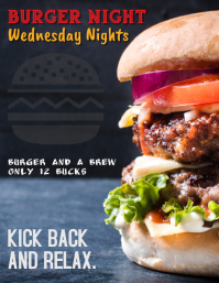 Burger Night Special for Restaurants Bars and Pubs Volante (Carta US) template