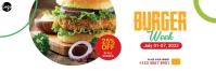 Burger Offer LinkedIn na Banner template