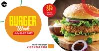 Burger Offer Facebook Ad template