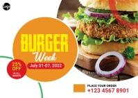 Burger Offer Post Card Postcard template