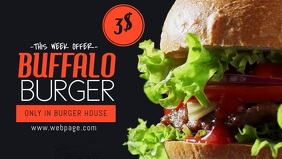 Burger Offer Promotion Facebook Cover Video template