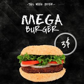 Burger Offer sale Instagram Template
