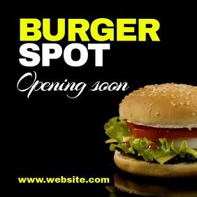 Burger opening soon